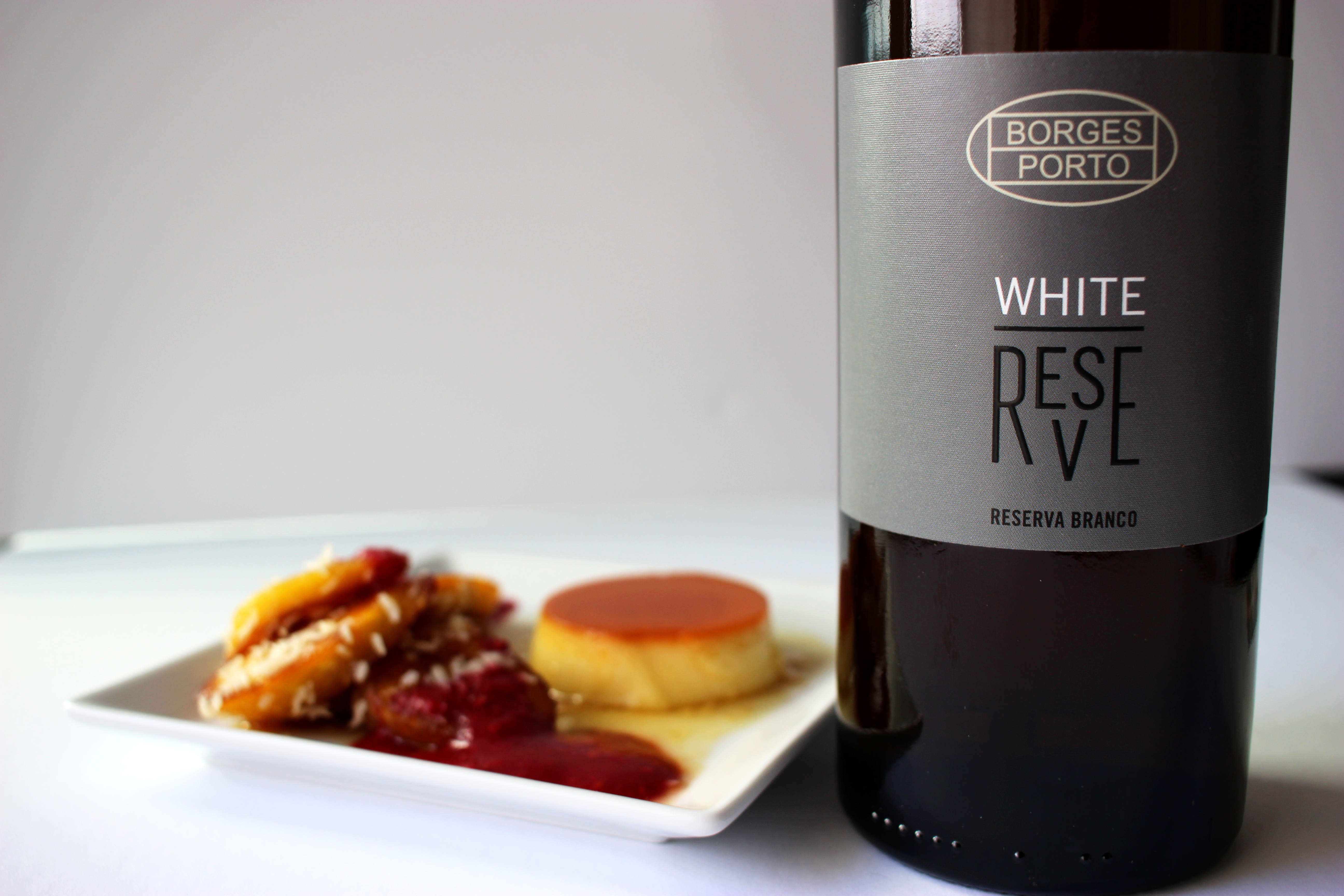 bottle of port wine with dessert pairing